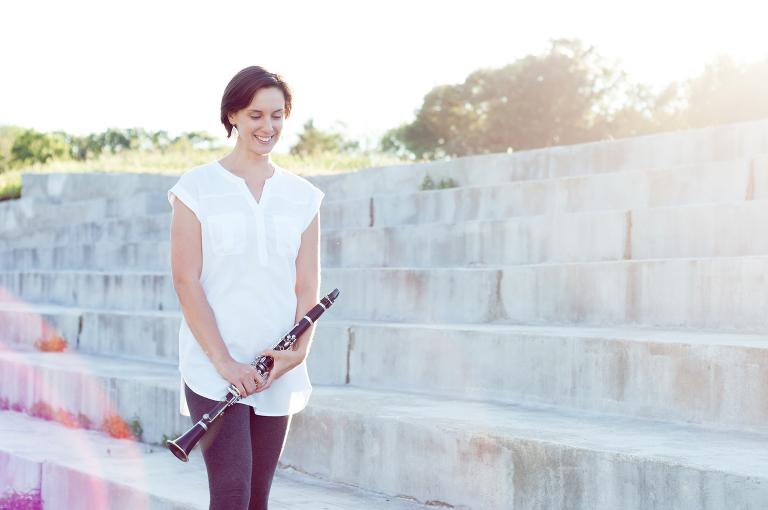 Maria Wagner Clarinetist and Yoga instructor   ©Wohler & Company